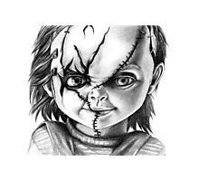 Hi, I'm Chucky, wanna play? Photographic Print