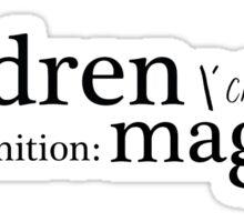Children are Maggots Sticker