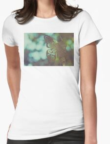 Bokeh With Butterfly Wings Womens Fitted T-Shirt