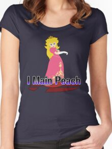 I Main Peach - Super Smash Bros Melee Women's Fitted Scoop T-Shirt