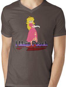 I Main Peach - Super Smash Bros Melee Mens V-Neck T-Shirt