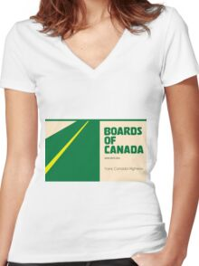 Boards of canada Trans Canada Highway Women's Fitted V-Neck T-Shirt