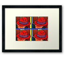 RED HATS Framed Print