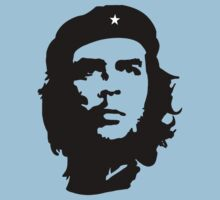 CHE, Che Guevara, Revolution, Marxist, Revolutionary, Cuba, Power to the people! Black on White Kids Tee