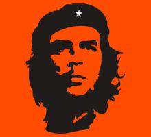 CHE, Che Guevara, Revolution, Marxist, Revolutionary, Cuba, Power to the people! Black on White Kids Tee