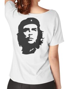 CHE, Che Guevara, Revolution, Marxist, Revolutionary, Cuba, Power to the people! Black on White Women's Relaxed Fit T-Shirt