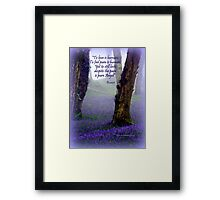 Bluebells and Rumi Framed Print