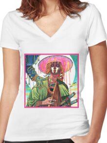 El huervo samurai Women's Fitted V-Neck T-Shirt