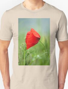 Wild red poppy Unisex T-Shirt