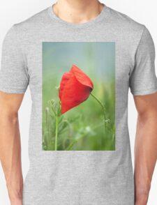 Wild red poppy Unisex T-Shirt