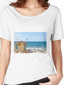 Sunny winter's day on Gordon Beach, Tel Aviv, Israel Women's Relaxed Fit T-Shirt