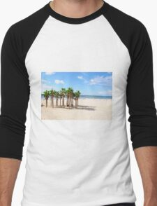 Palmtrees on the Tel Aviv Beach  Men's Baseball ¾ T-Shirt
