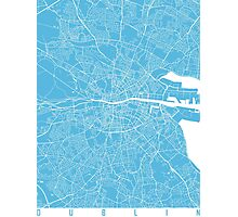 Dublin map blue Photographic Print