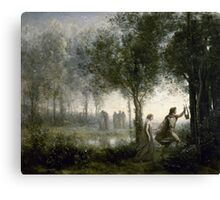 JEAN-BAPTISTE-CAMILLE COROT,  ORPHEUS LEADING EURYDICE FROM THE UNDERWORLD Canvas Print