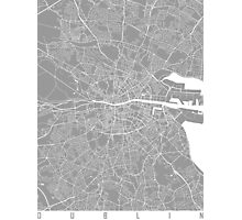 Dublin map grey Photographic Print