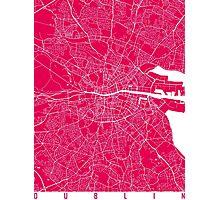 Dublin map raspberry Photographic Print