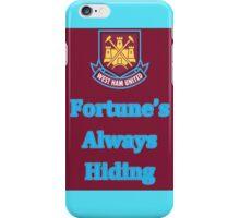 West ham fortune's always hiding iPhone Case/Skin