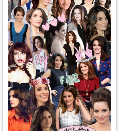 Tina Fey Collage Sticker