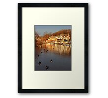 Boathouse Row Philadelphia Framed Print