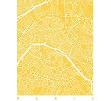 Paris map yellow Photographic Print