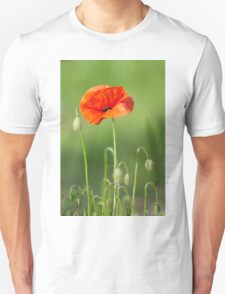 Red poppy flower Unisex T-Shirt
