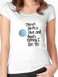 planet earth is blue Women's Fitted Scoop T-Shirt