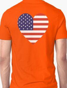 American, Heart Flag, Heart, Stars & Stripes, America, Americana,  Pure & Simple, America, USA T-Shirt