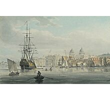 ROBERT CLEVELEY -  Greenwich from the River Thames Circa Watercolour over pen Photographic Print