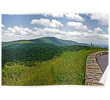 Skyline Drive the BlueRidge Mountains Poster