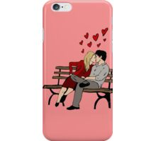 Kissing on chair iPhone Case/Skin