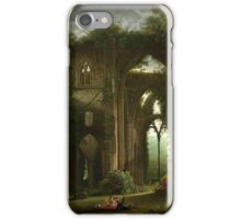 Sketching the Ruins of Tintern Abbey by Samuel Colman. iPhone Case/Skin