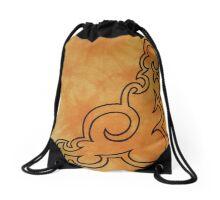 Sit And Be Orange Drawstring Bag