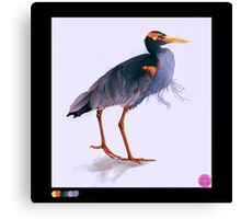 Palette Heron (1 of 5) Canvas Print