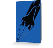 Silhouette Space Shuttle Launch Greeting Card