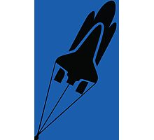 Silhouette Space Shuttle Launch Photographic Print