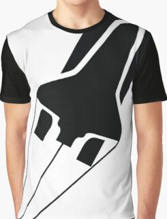 Silhouette Space Shuttle Launch Graphic T-Shirt
