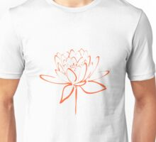 Lotus Flower Calligraphy (Orange) Unisex T-Shirt