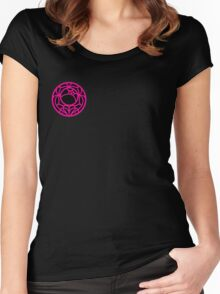 Black Rose Crest Women's Fitted Scoop T-Shirt