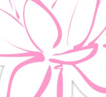 Lotus Flower Calligraphy (Pink) Sticker