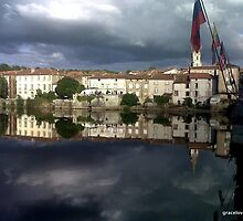 Reflections at Confolens,  France by graceloves