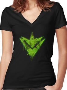 Xenoblade X - Pathfinder Women's Fitted V-Neck T-Shirt