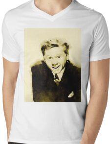 Mickey Rooney by John Springfield Mens V-Neck T-Shirt