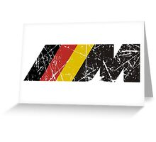 BMW ///M logo (german flag) Greeting Card