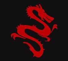Red Jade Chinese Dragon Silhouette Unisex T-Shirt