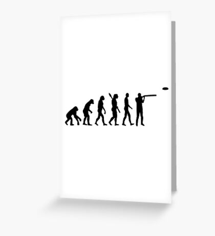 Evolution trap shooting Greeting Card