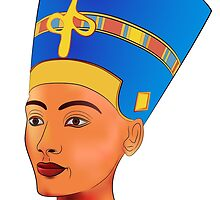Nefertiti - queen of ancient Egypt by siloto