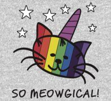 Unicorn Cat UniKitty So Meowgical T Shirt One Piece - Long Sleeve