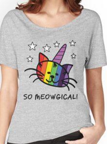 Unicorn Cat UniKitty So Meowgical T Shirt Women's Relaxed Fit T-Shirt
