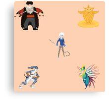 The Guardians - Pixel Art Canvas Print
