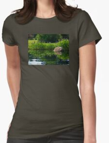 Pickerel at the Pond Womens Fitted T-Shirt